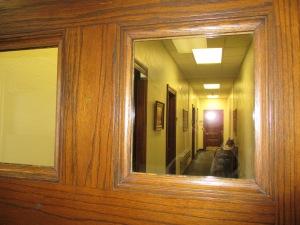 Window to hall
